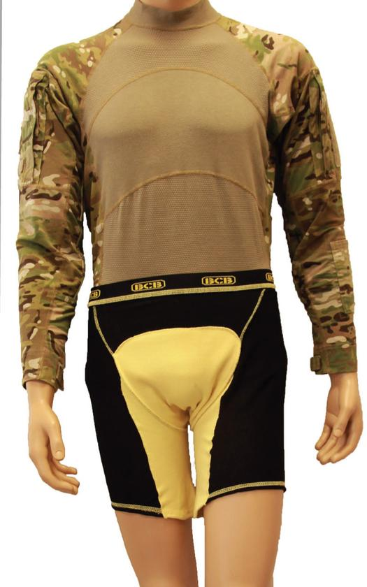 The Protective Under Garment - or PUG - designed to protect the pelvic region of dismounted soldiers