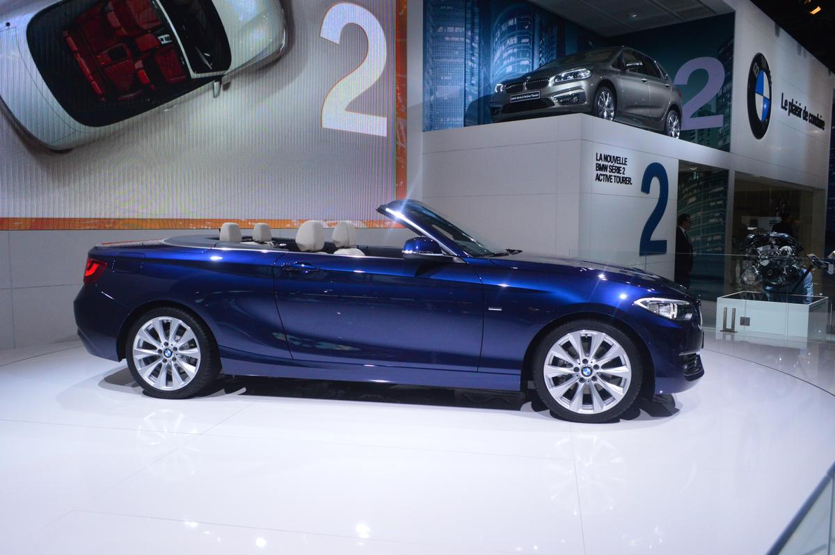 BMW took the wraps off its new 2 Series convertible for a world premiere at the 2014 Paris Auto Show (Photo: C.C. Weiss/Gizmag)