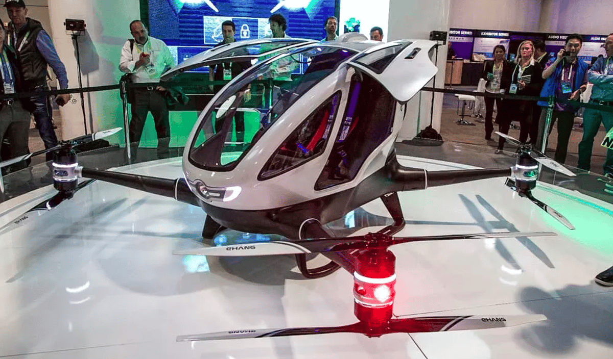 Ehang's 184 drone, shown hereat CES earlier this year, will be flighttested in Nevada