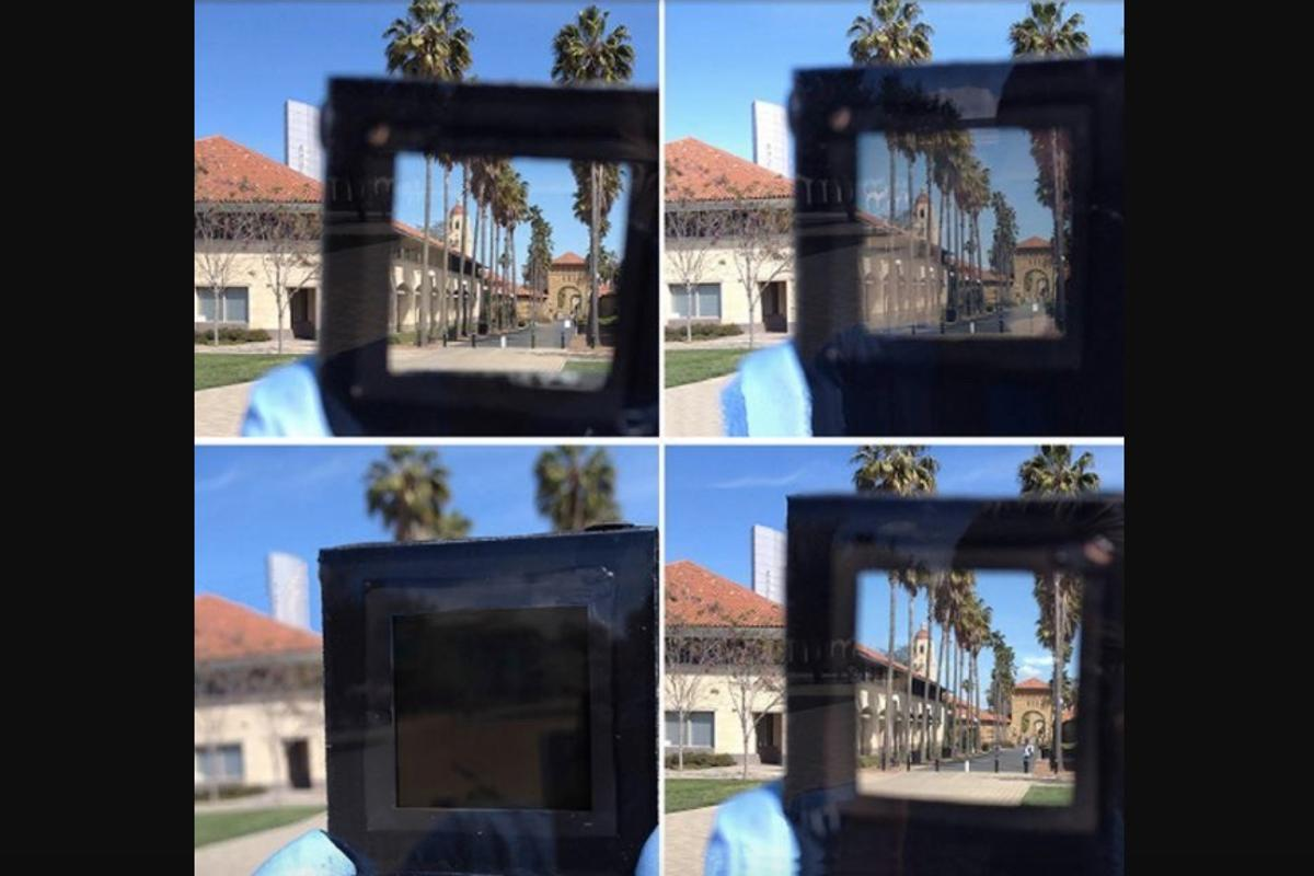 The smart window can dim completely in less than a minute