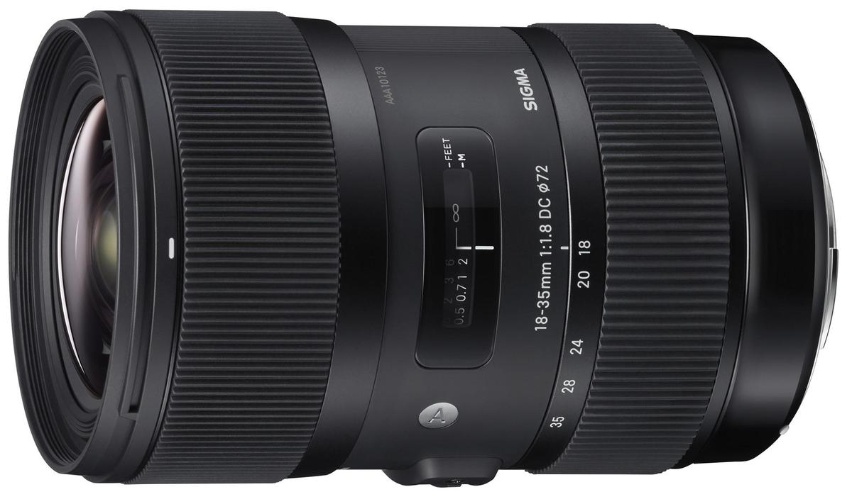 The Sigma 18-35mm f/1.8 DC HSM Art is the world's first F1.8 constant aperture zoom lens