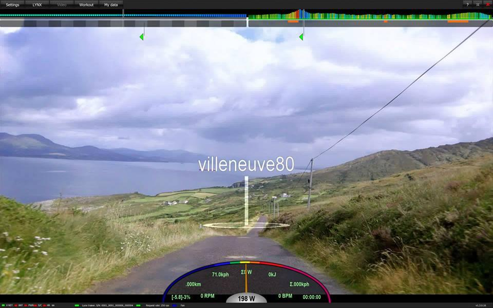 VRide Multi displays the identity, speed and location of other online users, layered over actual video