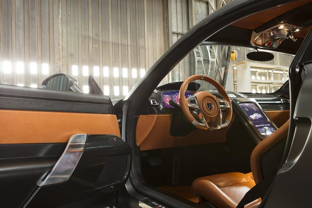 Step inside: the Berlinetta is much rommier than you'd expect from a 900-plus horsepower supercar