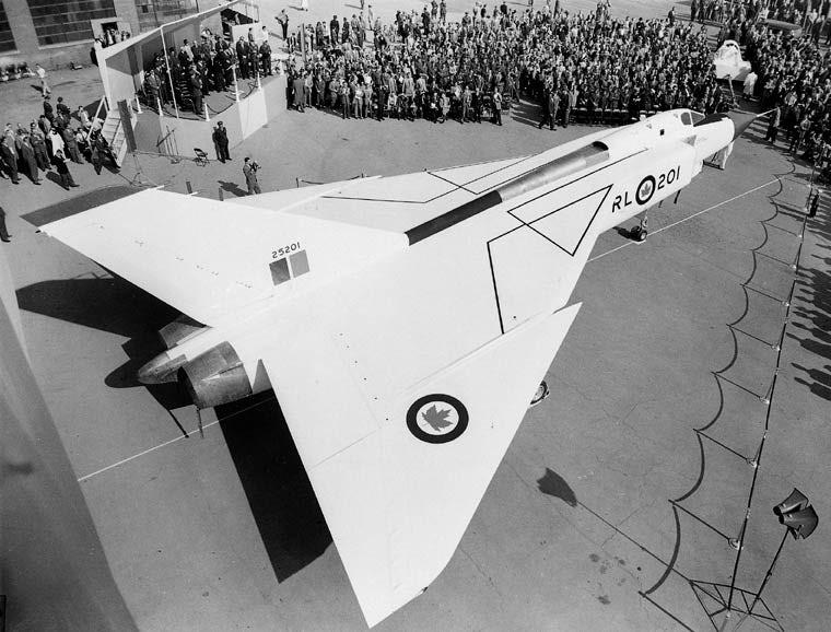The Avro Arrow is rolled out to the public