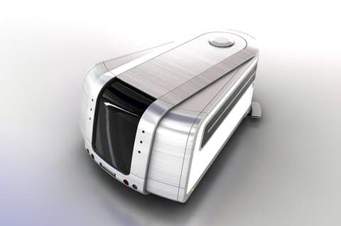 Odorico Pordenone expandable trailer by Jakub Novak - rear view