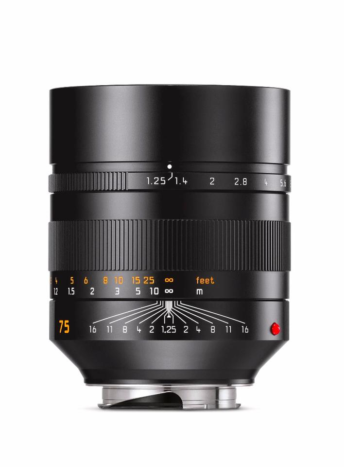 Leica Noctilux-M 75mm f/1.25 lens offers 85 cm minimum focusing distance