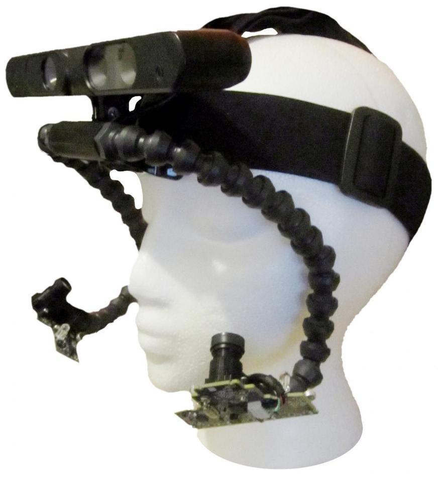 The prototype 3D point of gaze headset