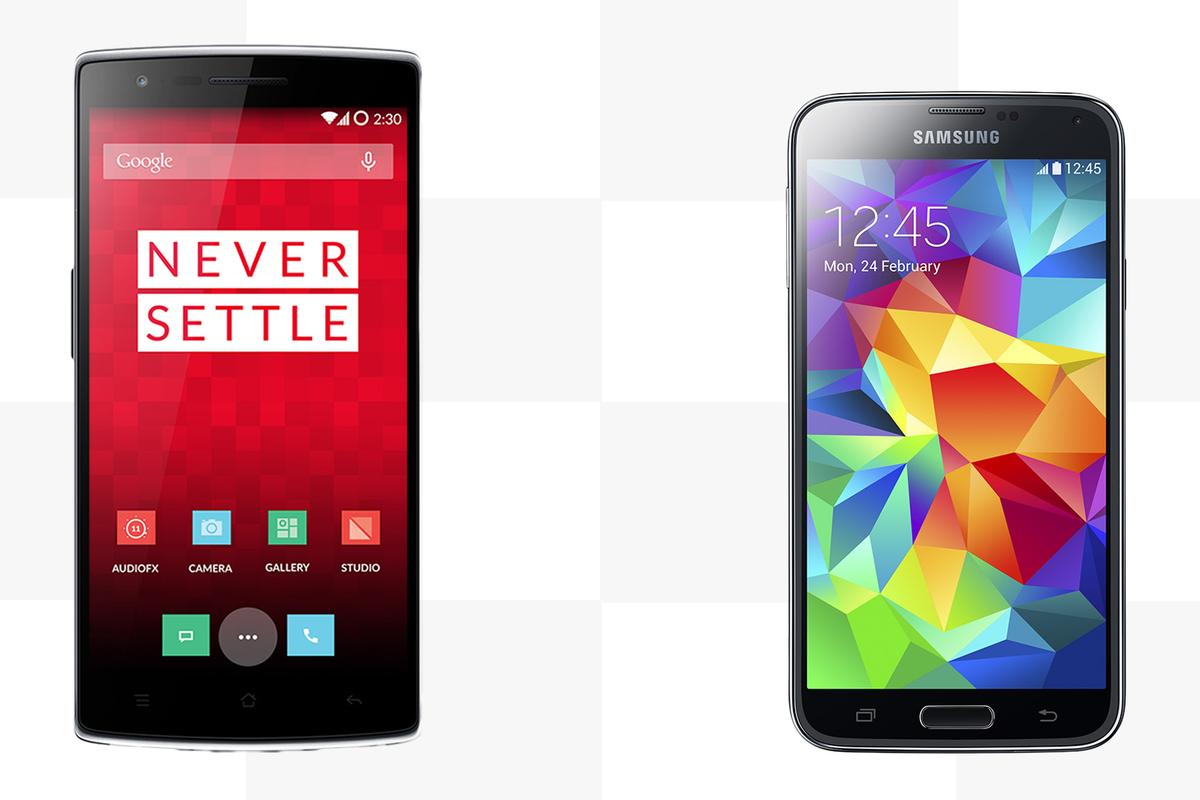 Gizmag compares the features and specs of the OnePlus One and Samsung Galaxy S5