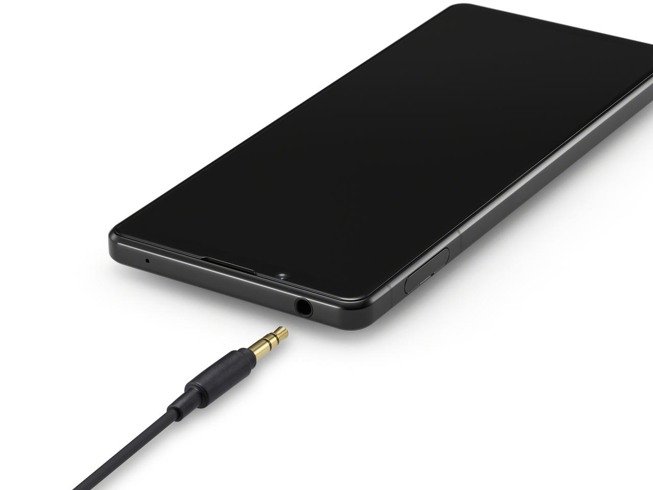 Sony has included a 3.5 mm audio jack in the design of the Xperia 1 II