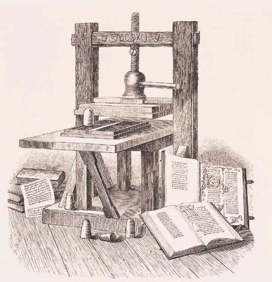 The first printing press. Today, more than a billion people a day, across the planet, read a daily newspaper.