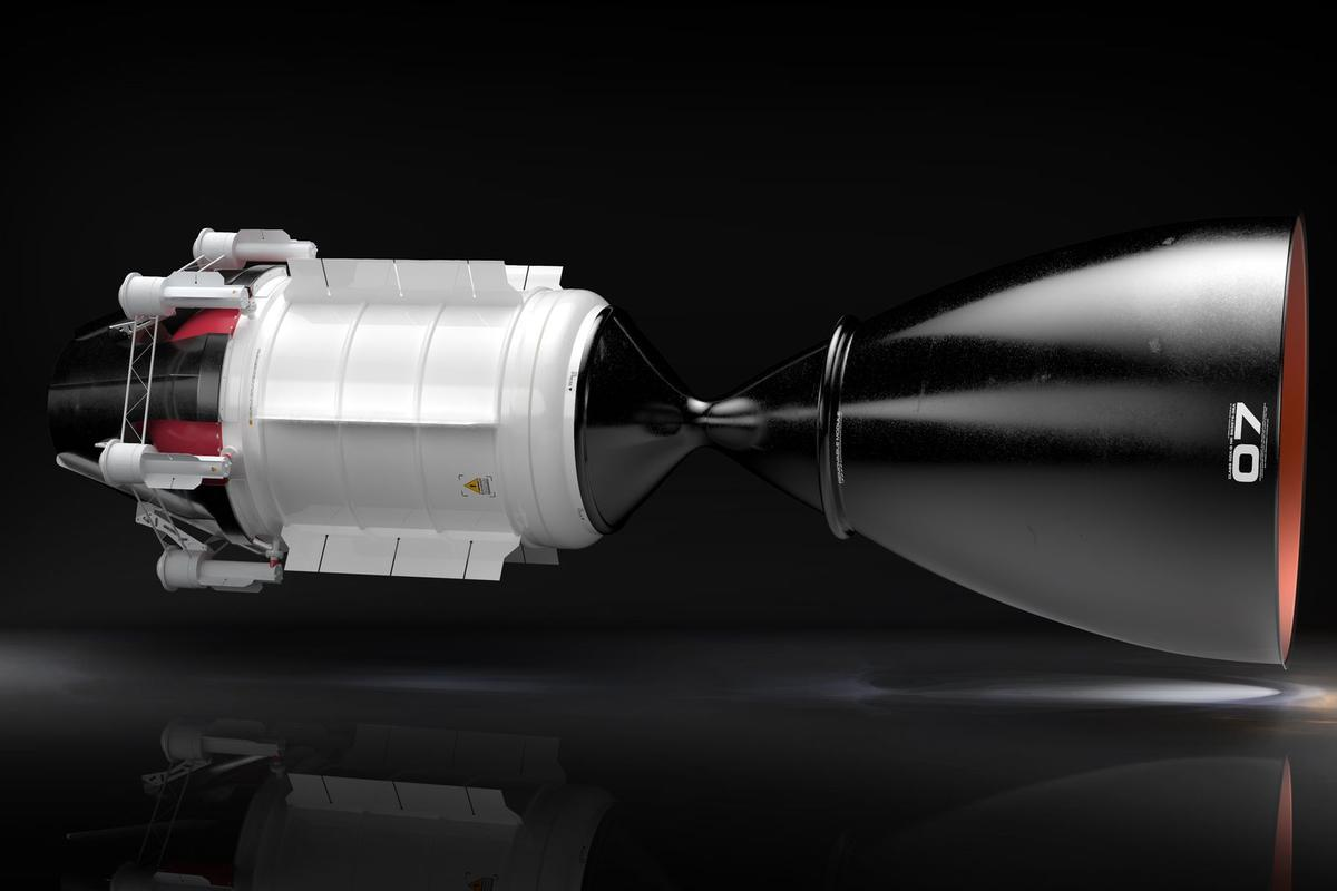 The concept engine is twice as efficient as chemical rockets