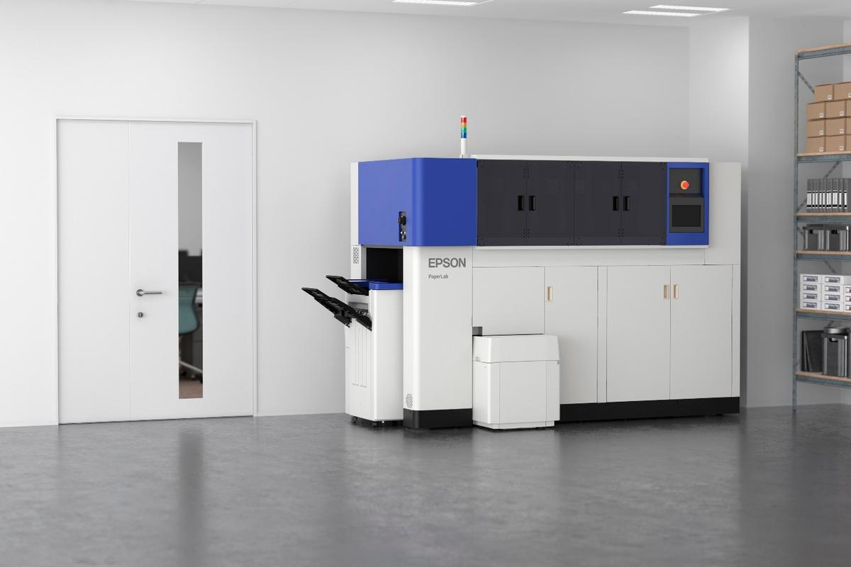Epson's PaperLab machine breaks down workplace wastepaper and fashions it into fresh sheets on-site