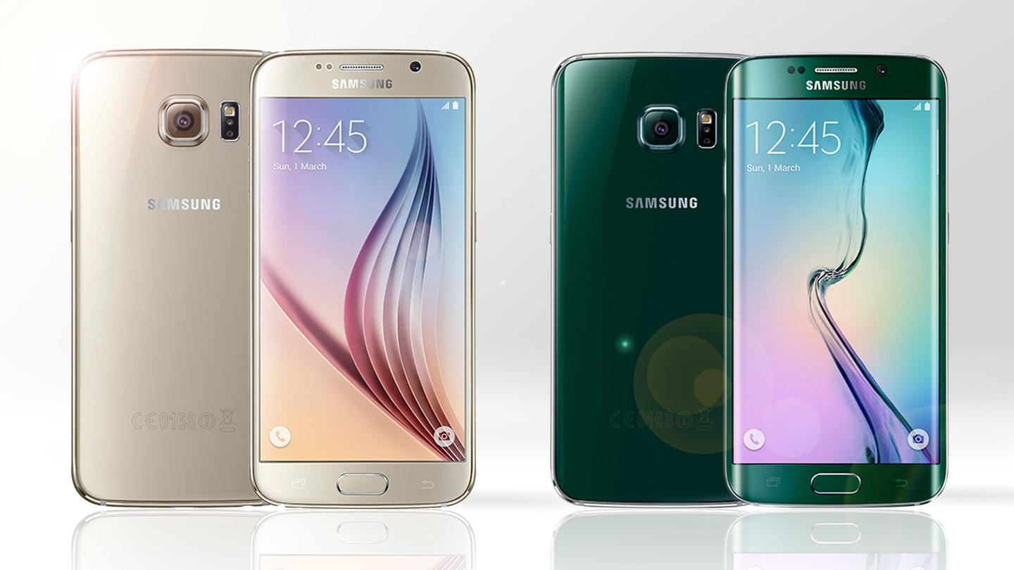 Samsung unveiled the Galaxy S6 (left) and Galaxy S6 edge at Mobile World Congress today