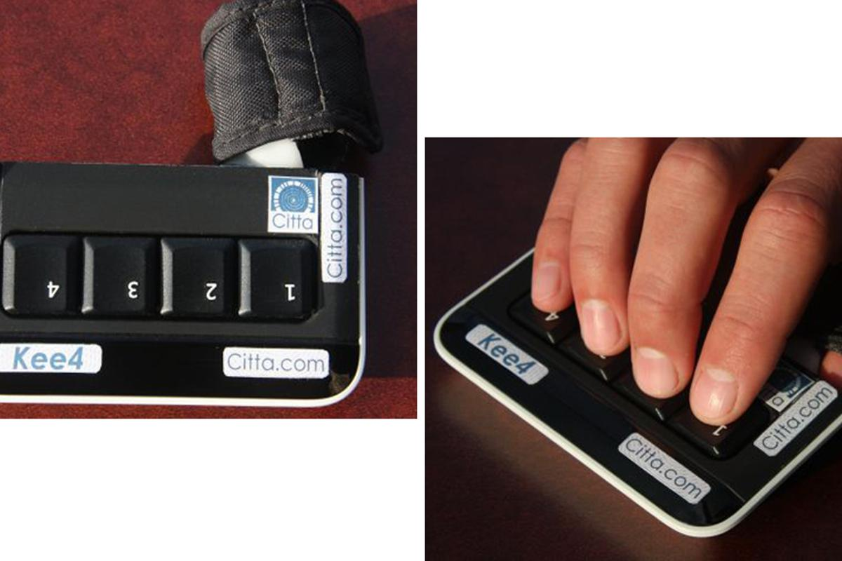 The Kee4 Keyboard puts mobile typing at your fingertips