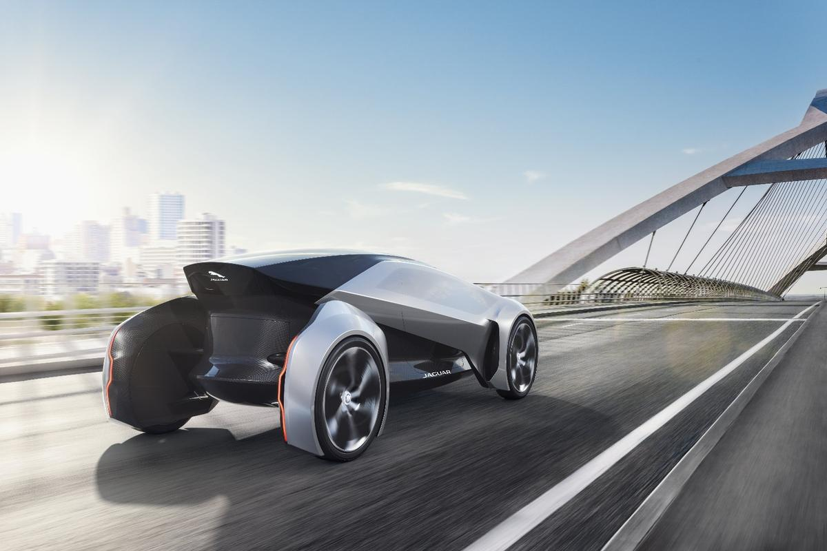 The narrow body of the Future-Type is designed for compact urban roads of the future