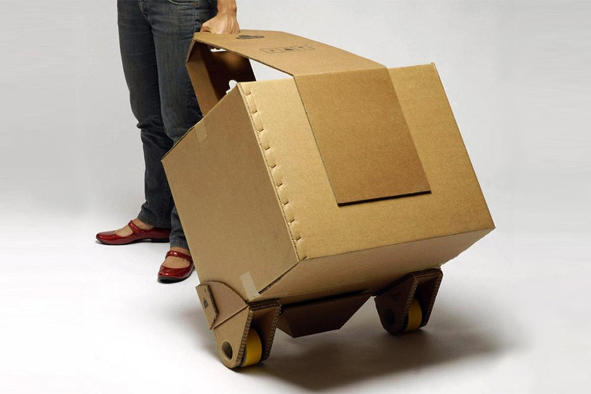 The Move-it kit is a recyclable, reusable means of transporting your goods across town