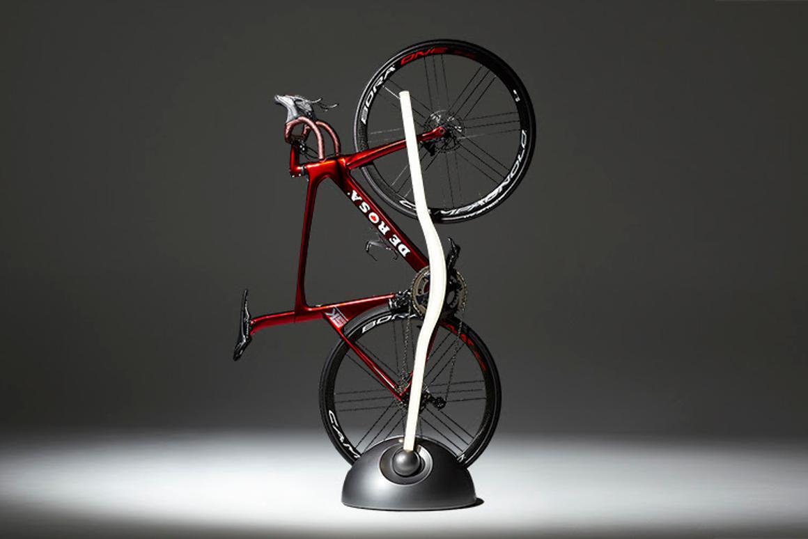 The Vertik bike stand/floor lamp hybrid fromVadolibero