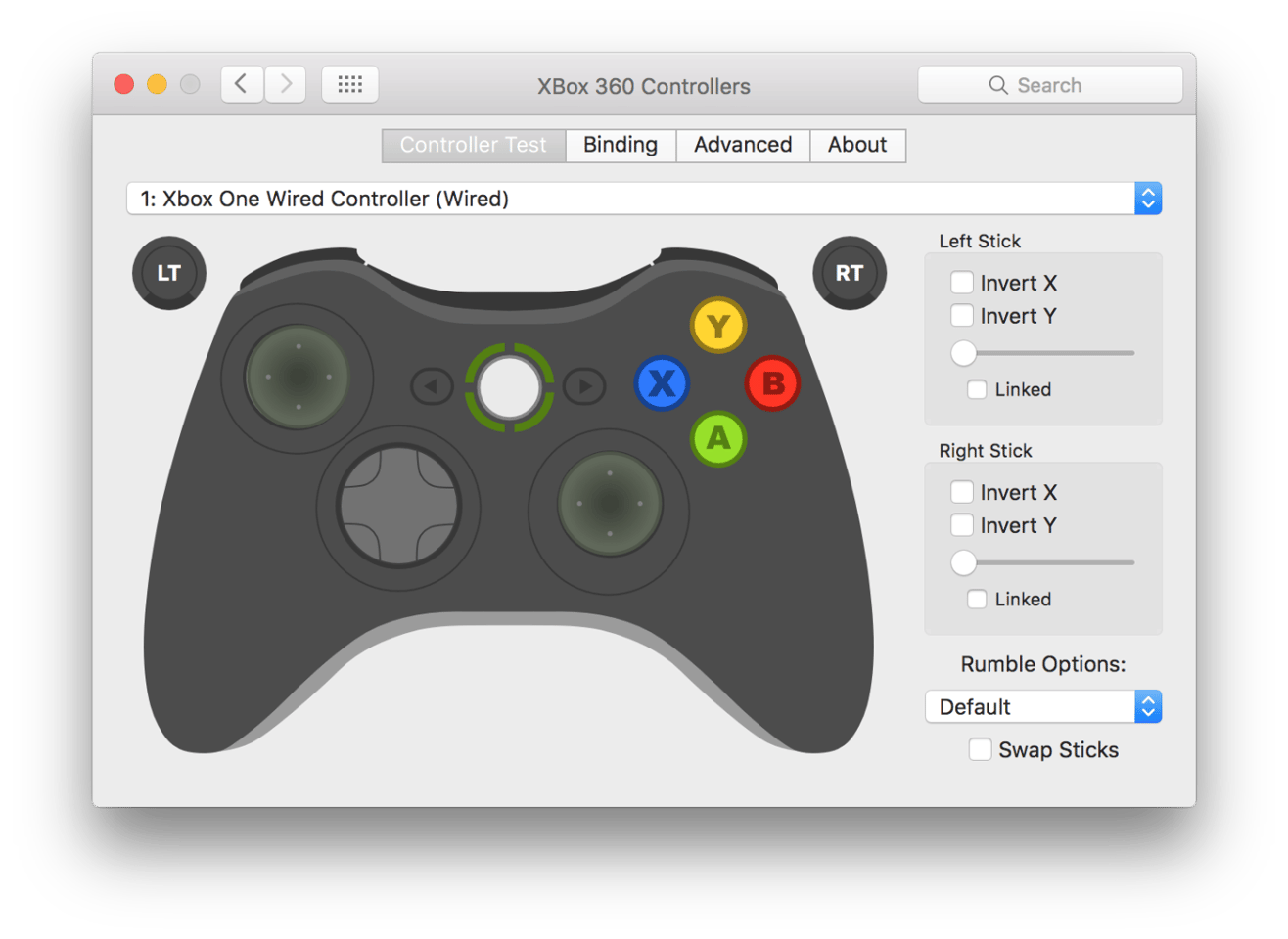 The 360Controller preferences