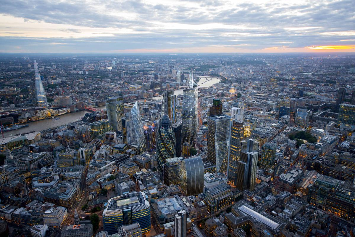 New skyscrapers in the City of London (Image: Hayes Davidson for NLA)
