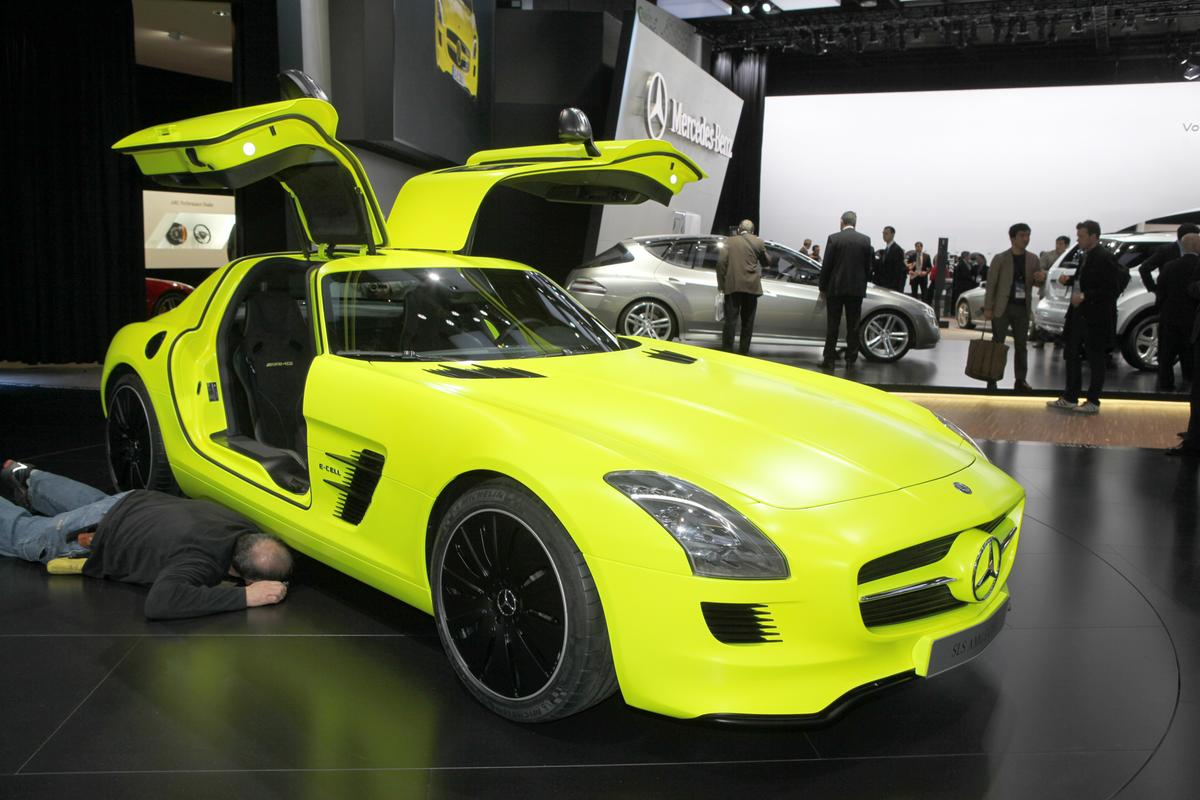 The Mercedes-Benz SLS AMG E-Cell