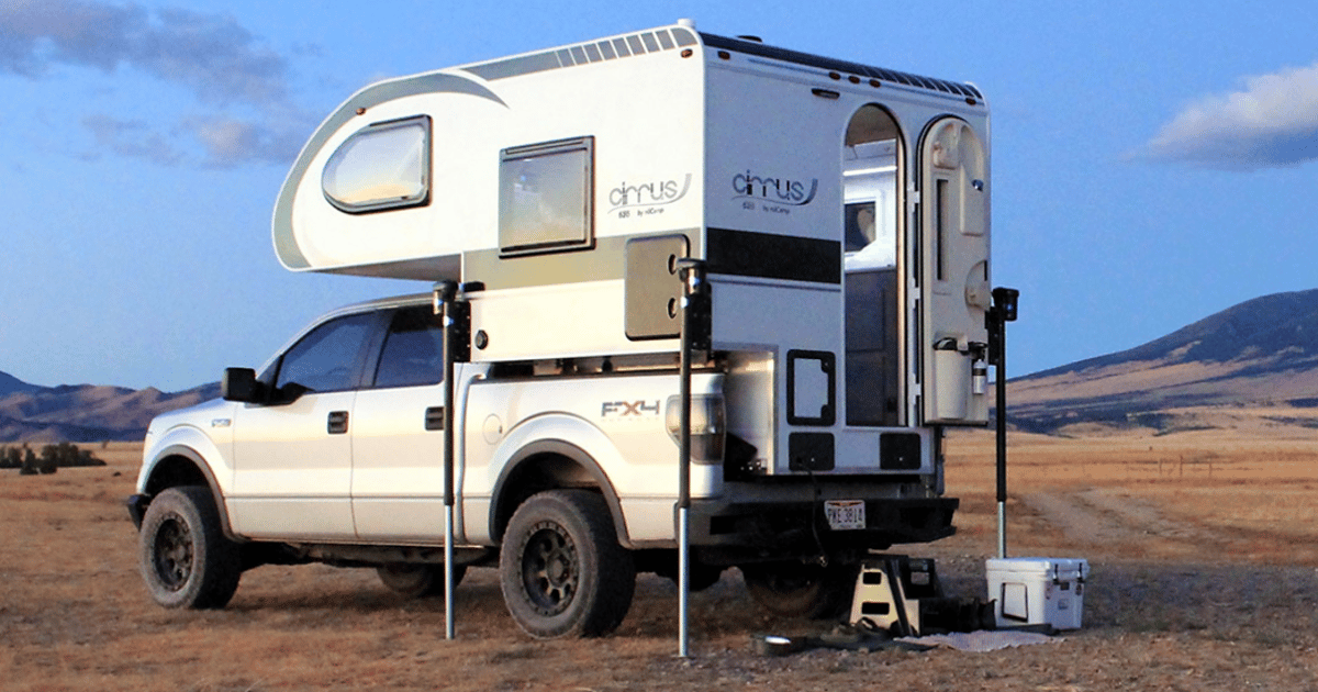Cirrus 620 pickup camper turns Ford F-150 into cozy micro-home