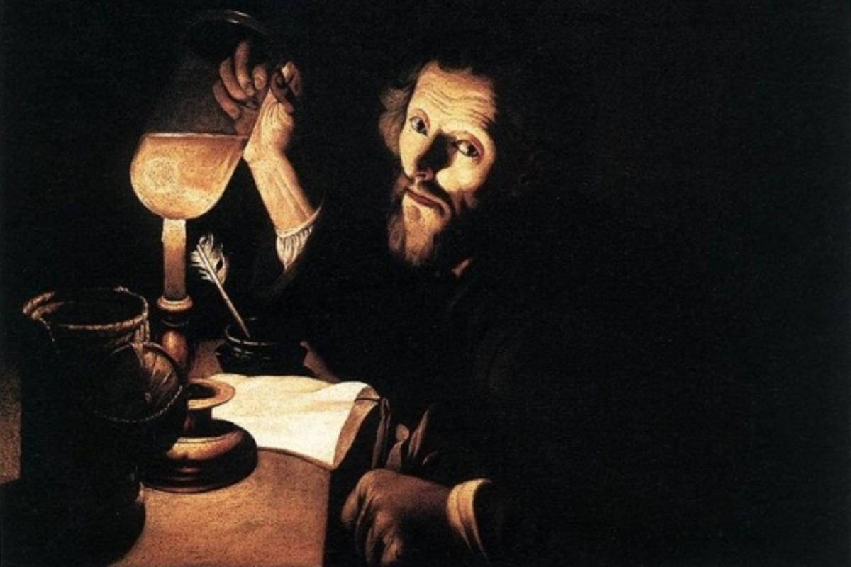 """""""A Doctor Examining Urine"""" by Trophime Bigot - 16th Century... we've been looking for something useful to do with it for a while"""