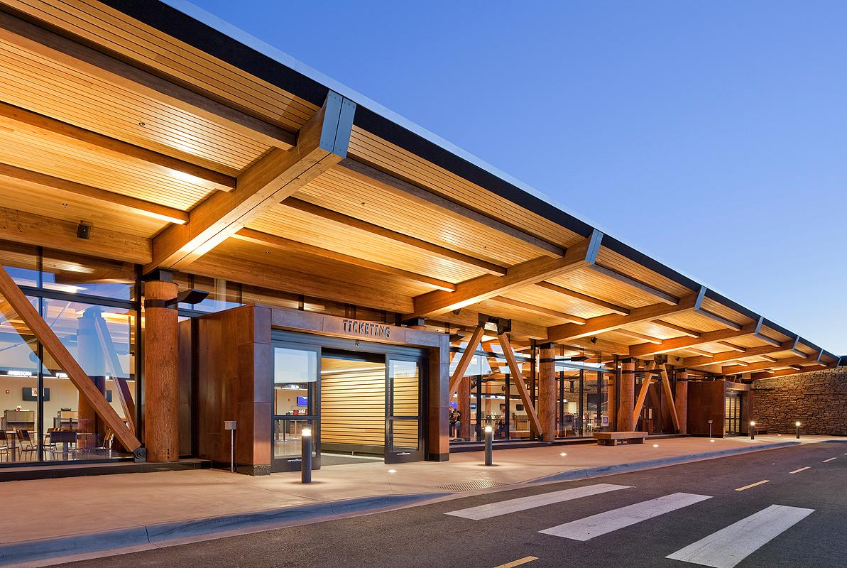 Jackson Hole Airport, by architecture firm Gensler, won the Institutional Wood Design category (Photo: Matthew Millman Photography)