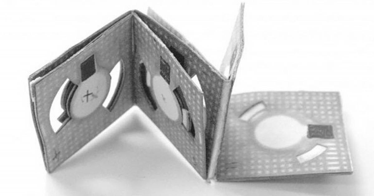 """Origami battery"" made from paper and dirty water for just a few cents"