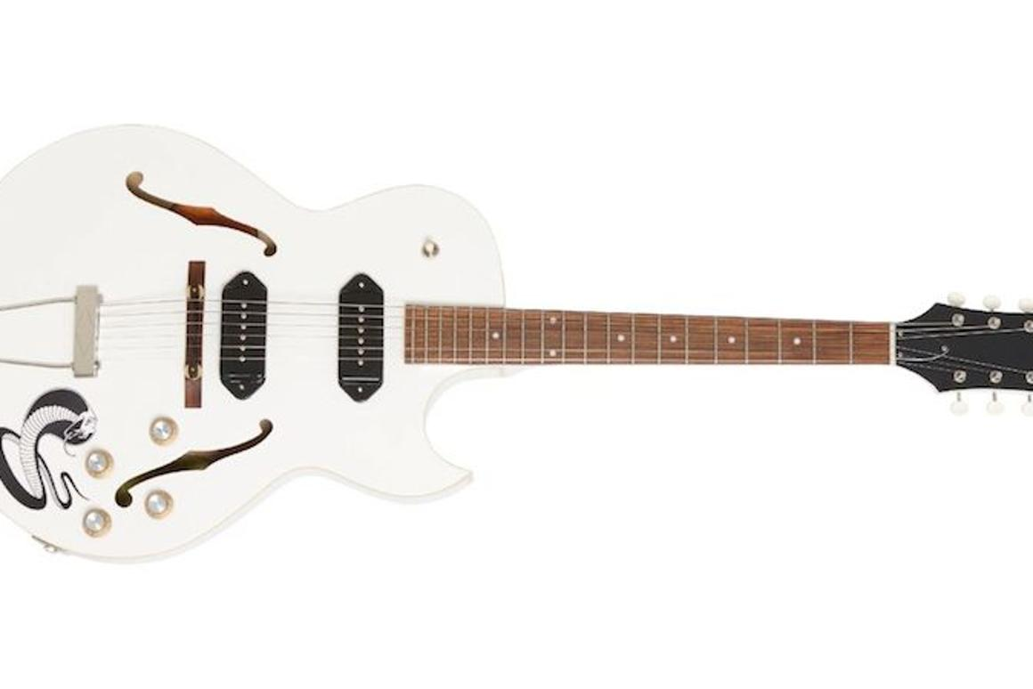 "The limited edition George Thorogood ""White Fang"" ES-125TDC Outfit from Epiphone"