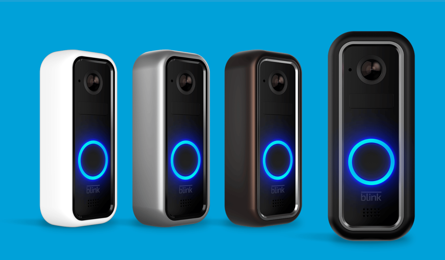 The Blink Video Doorbell hooks up to your home Wi-Fi network and with a built-in HD camera, brings users the action at the front door via their smartphone