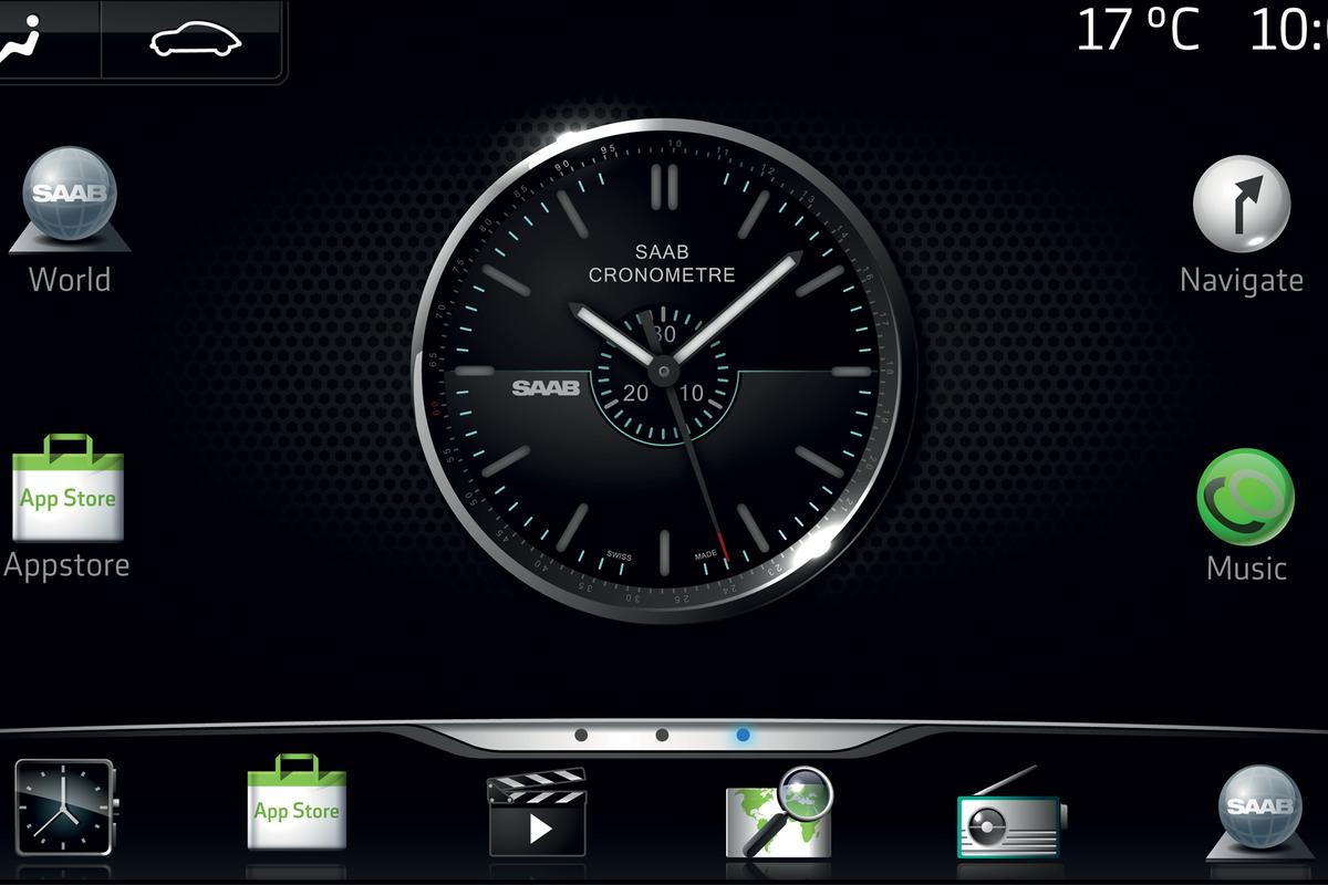 Saab's IQon infotainment concept is an Andorid-based system that allows users to download apps to a vehicle in the same way as a smartphone