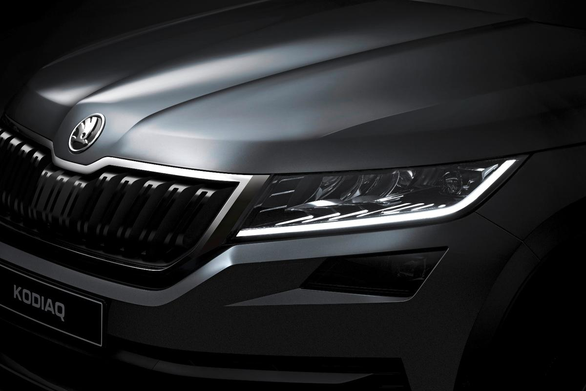 The Kodiaq hasn't been fully unveiled, but it's getting closer