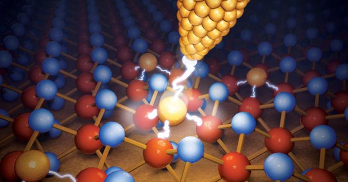 """Tiny, high-capacity """"atomristor"""" stores data in single-atom switches"""