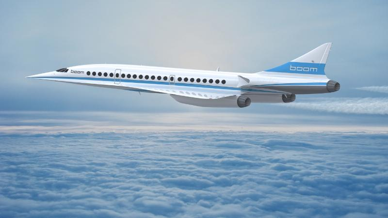 Artist's concept of the Boom supersonic passenger jet