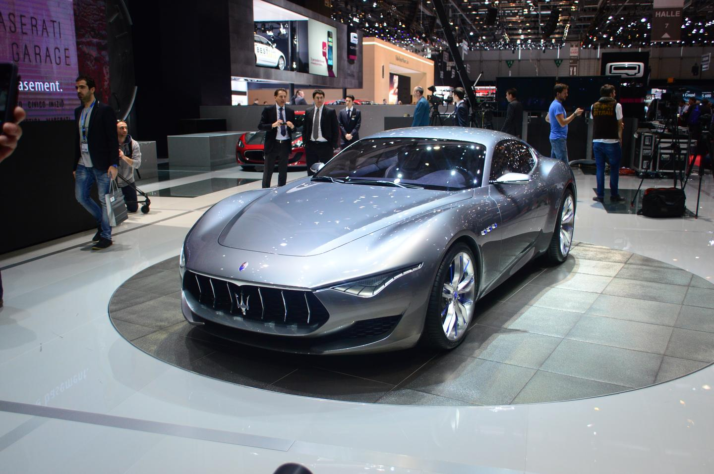 The Maserati Alfieri concept at the 2014 Geneva Motor Show