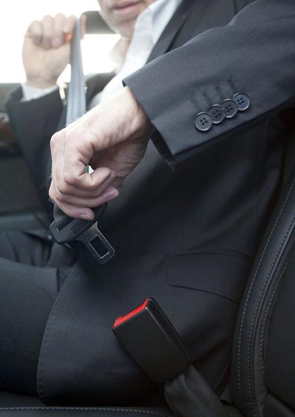 Mercedes' active seat-belt buckle is designed for convenience and safety