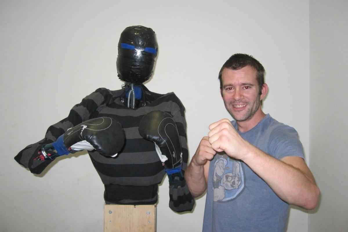 The Punching Pro and its creator, Kris Tressider