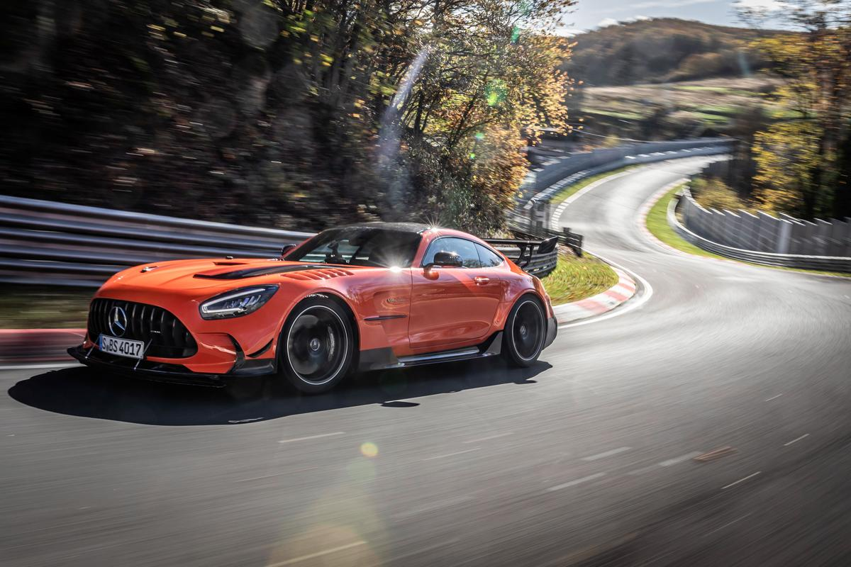 Mercedes-AMG's GT Black Series in action at the Nurburgring