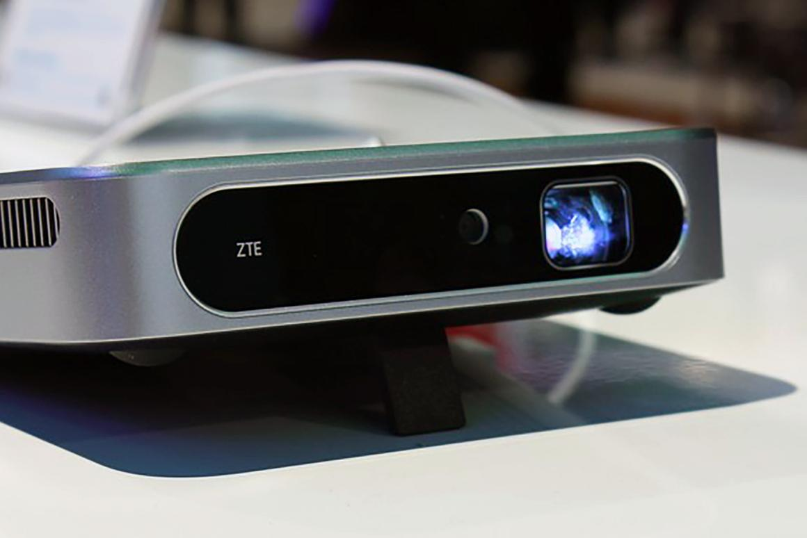 ZTE has a hotspot and projector in one small package