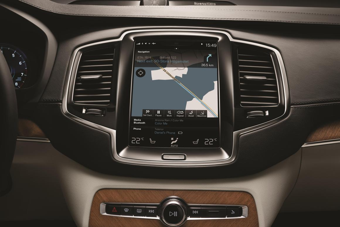 Volvo reveals its take on Apple CarPlay for new XC90