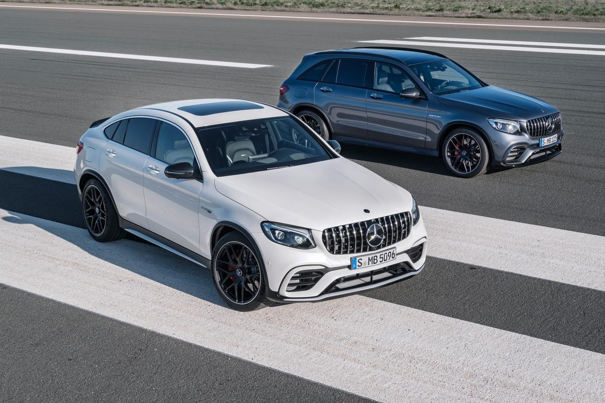 The GLC63 and GLC63Coupe side-by-side