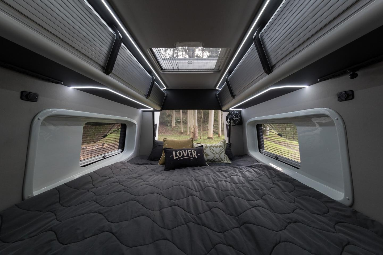The Jabiru's two single rear beds combine into a double, whenpreferred