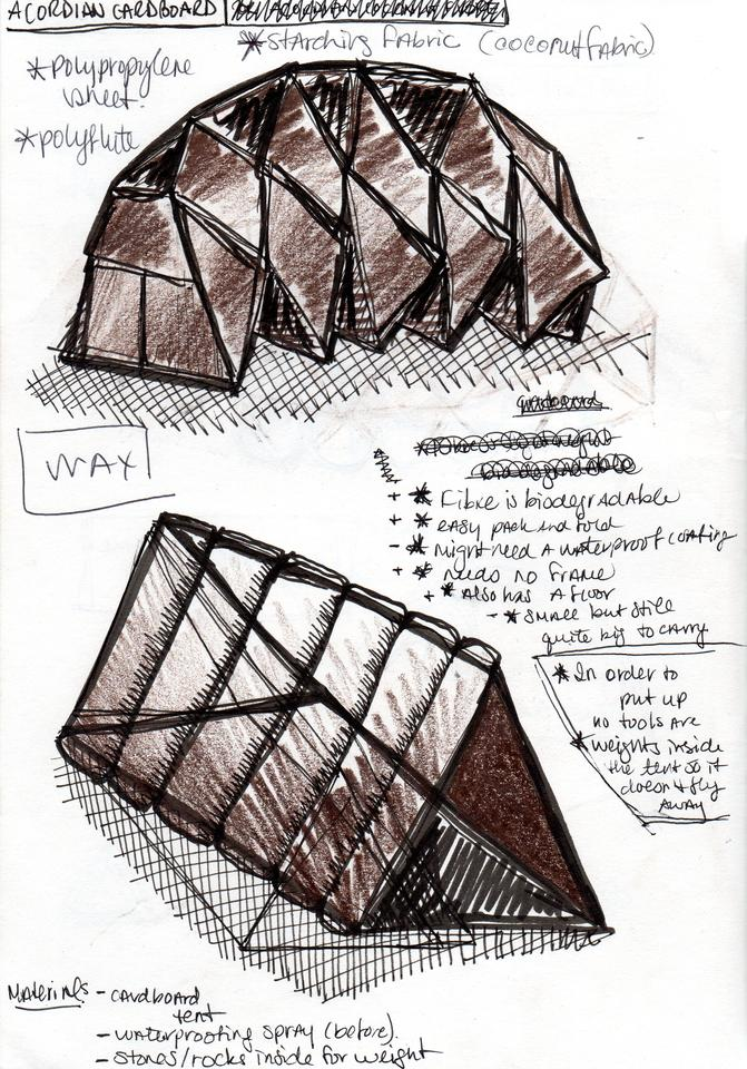 Vanessa Harden wanted to design a quick-assembly, waterproof tent that would be less expensive than a cheap 'disposable' tent (Credit: Vanessa Harden)