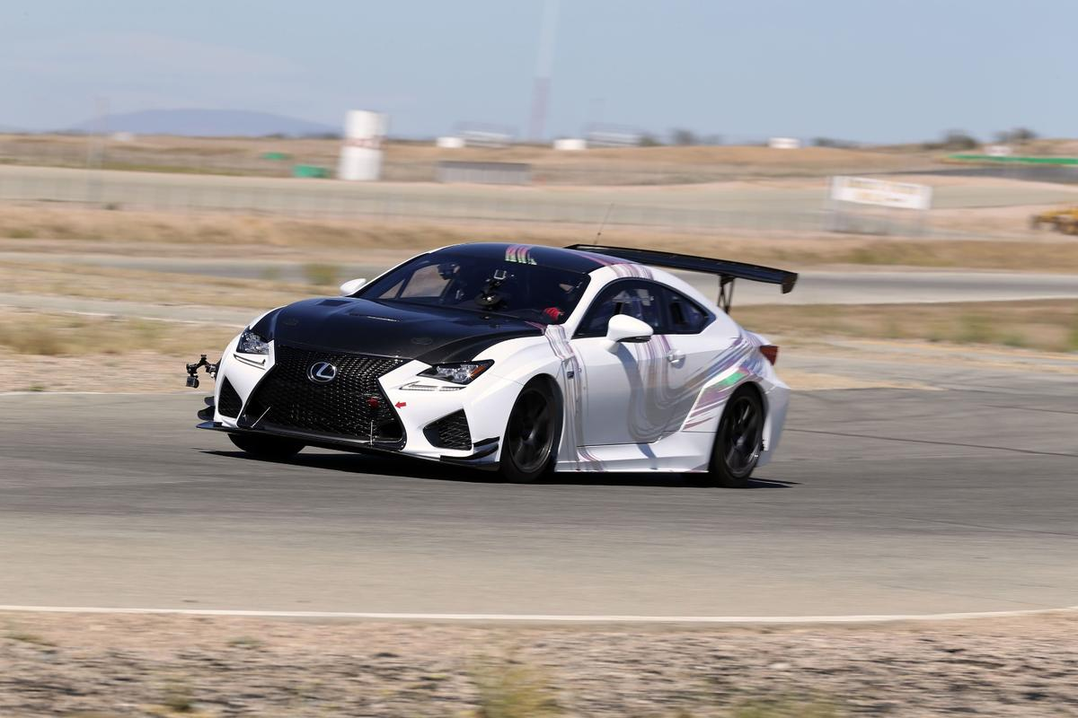 Lexus has cut about 800 lbs of weight when compared to the production car