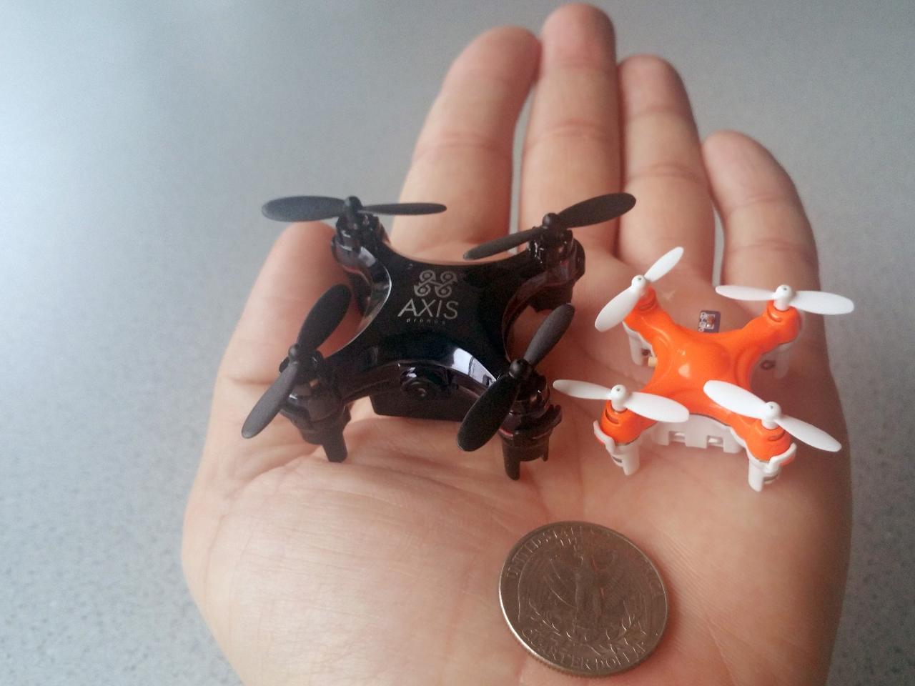 The Axis Drones Vidius (left) next to the smaller Aerius (right)