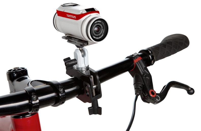 The TomTom Bandit action camera is compatible with a number of action-oriented mounts