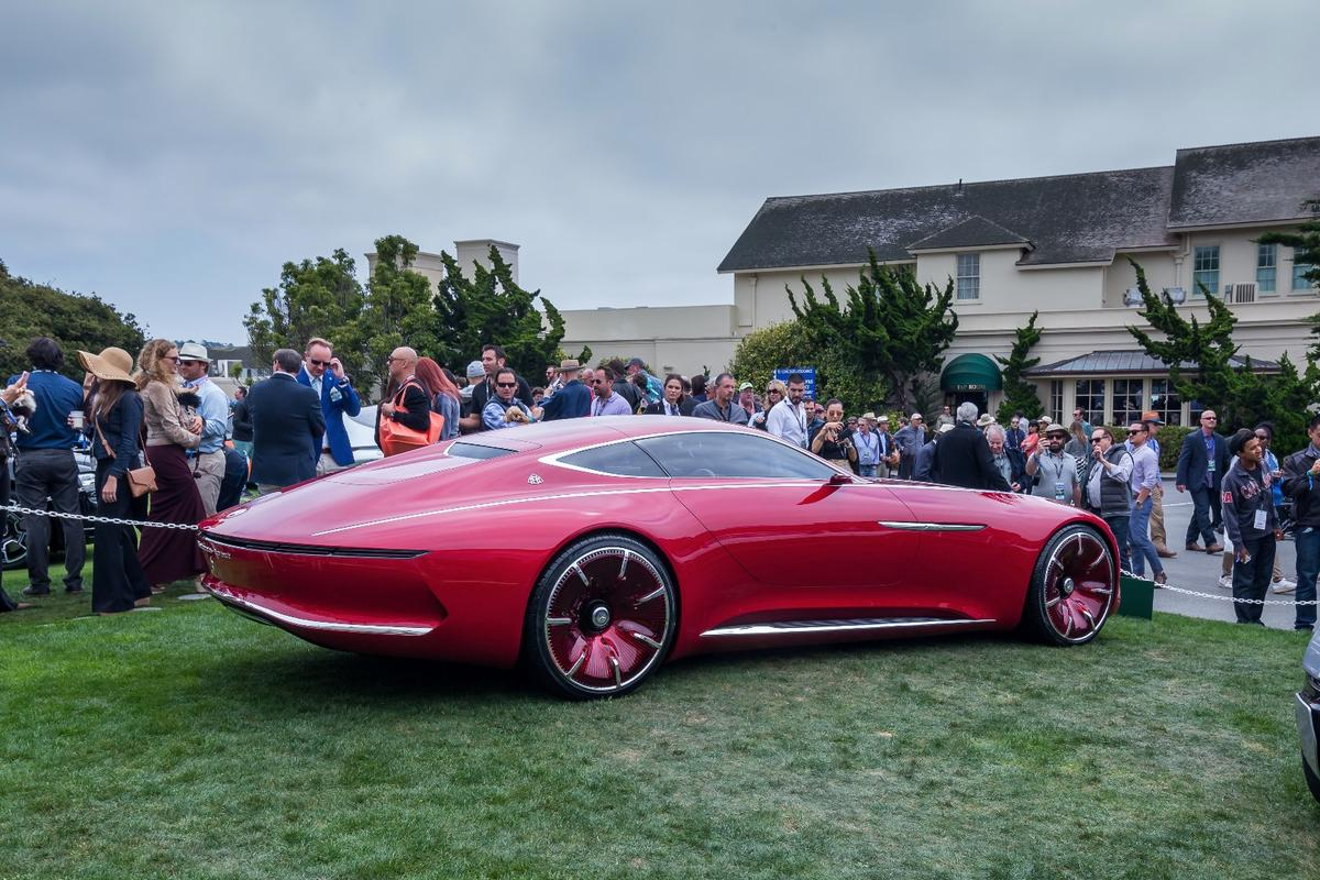 The VisionMercedes-Maybach 6 certainly has some presence on the lawn at Monterey Car Week
