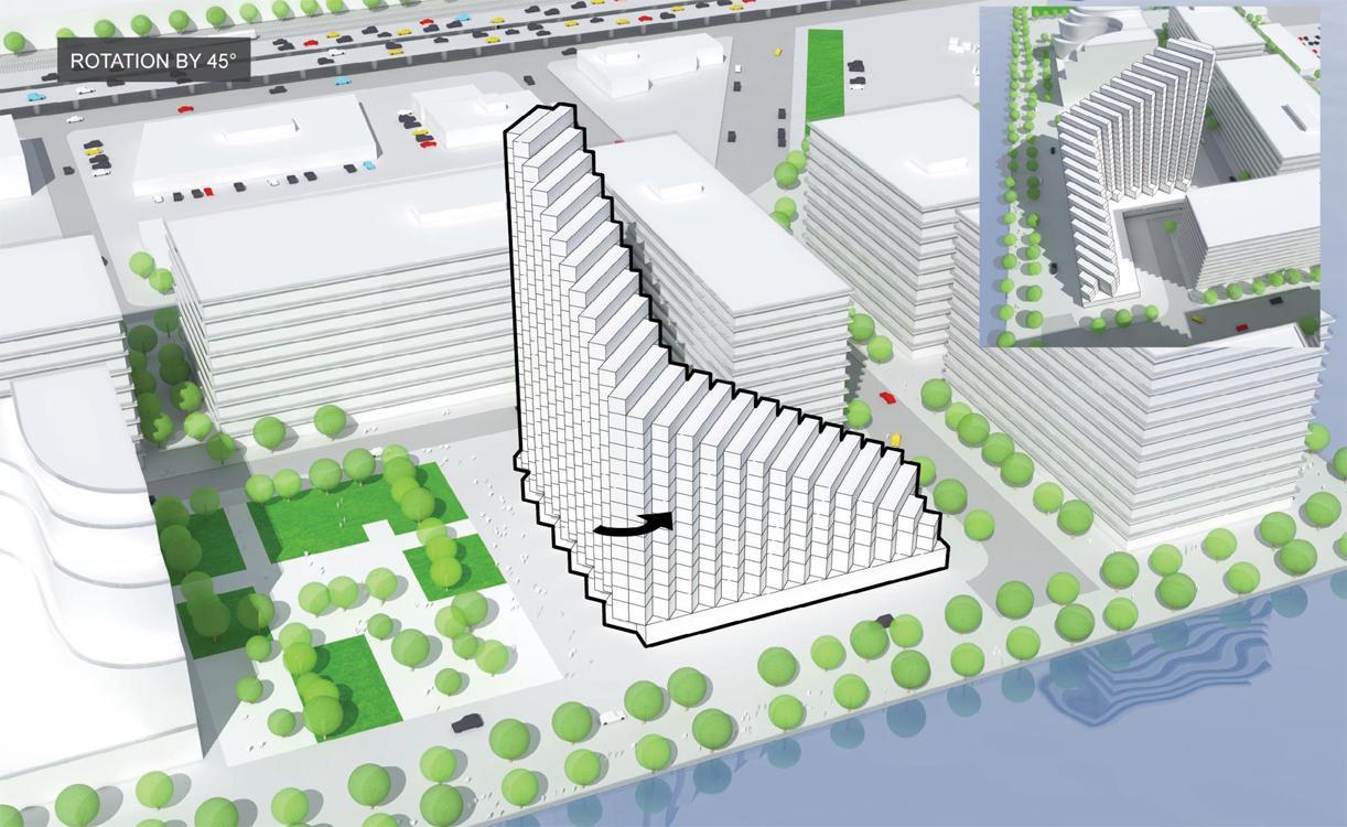 Waterfront high-rise would twist to maximize the view