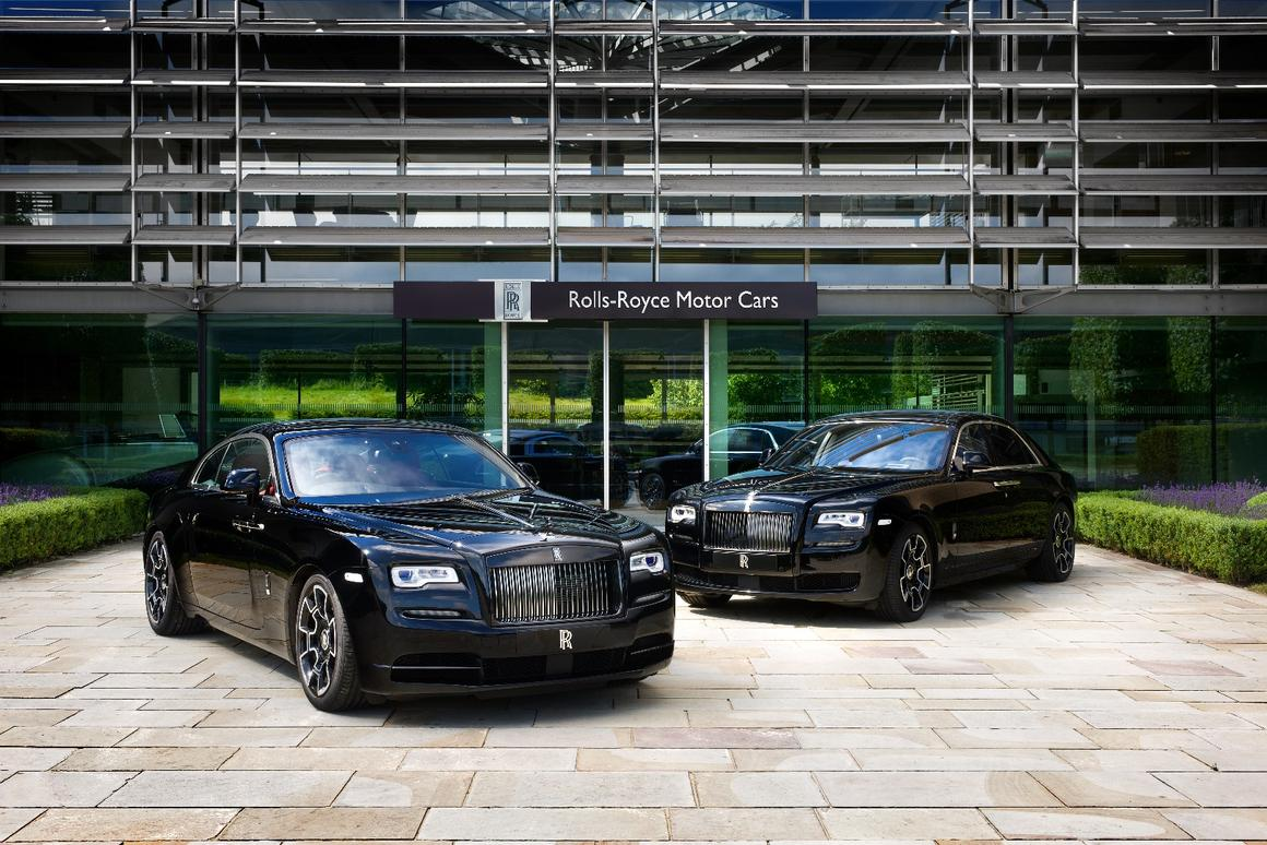 The blacked-out, Black Badged Rolls-Royce pair