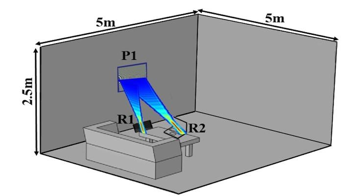 According to a new paper, thetechnology already existsfor a system that can wirelesslycharge several devices in a room viaan LCD-like panel on the wall